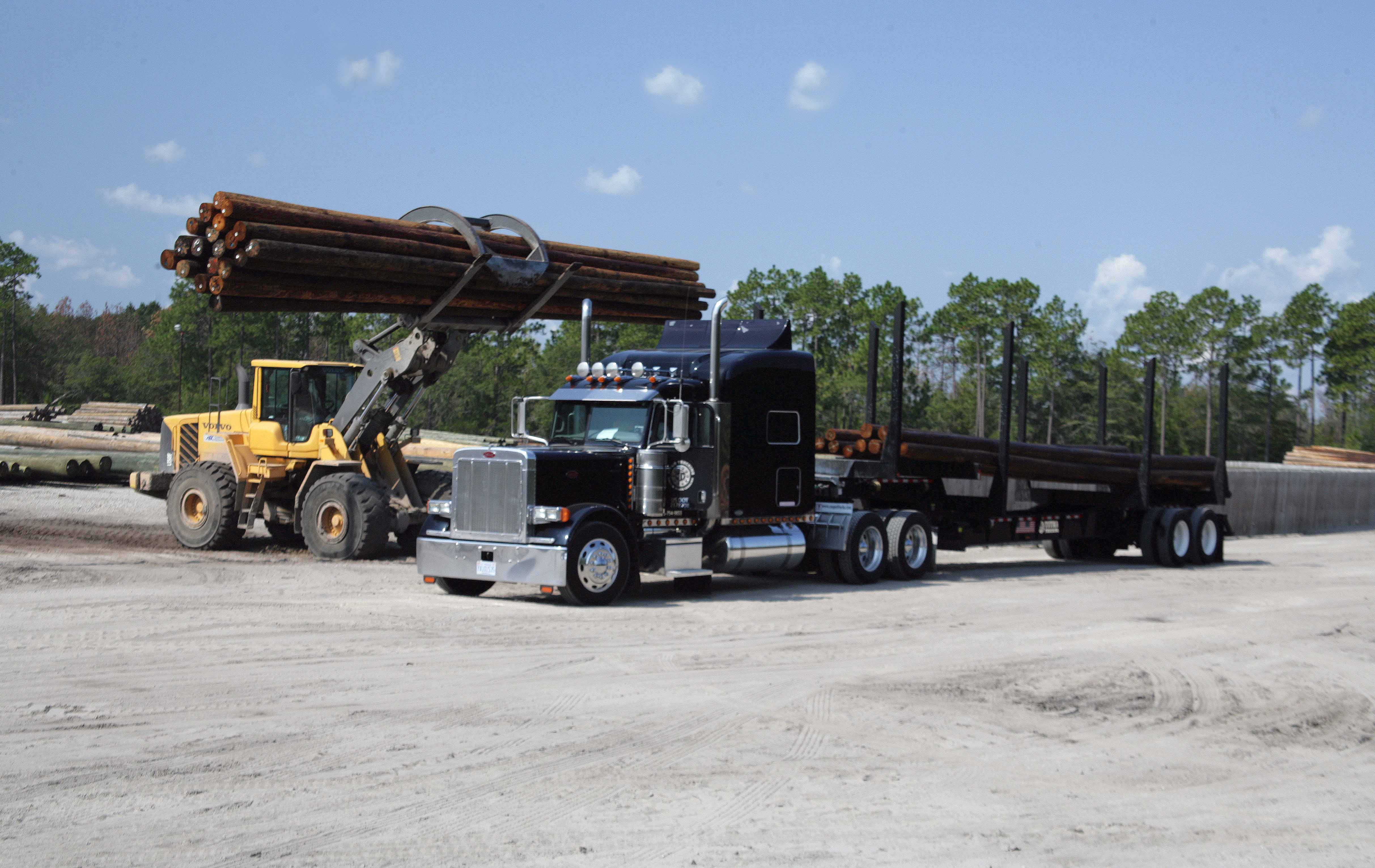 Titan Trucking Gets Loaded with Utility Poles